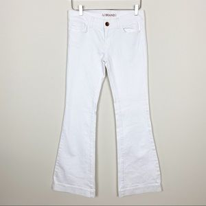 J brand love story white flare jeans